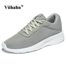 Viihahn Mens Casual Shoes 2017 Spring And Summer Shoes for Men Breathable Mesh Leisure Shoes Lace Up Lightweight Shoes