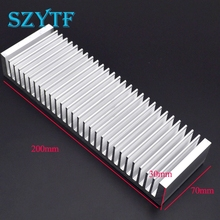 1pcs Heat sink 200*70*30MM (silver) high-quality ultra-thick aluminum radiator(China)