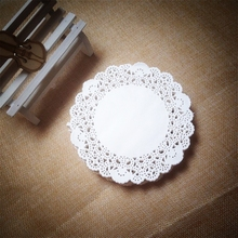 "New Arrival 200pcs 4""=115mm White Round Lace Paper Doilies / Doyleys,Vintage Coasters / Placemat Craft Wedding Table Decoration(China)"