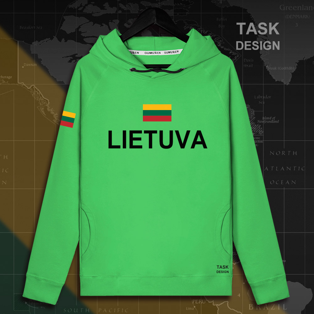 Lithuania Lithuanian LTU Lietuva Lietuvos men hoodie pullovers hoodies men sweatshirt new streetwear clothing Sportswear tracks 16