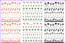 3 PACK/ LOT WATER TRANSFER DECAL NAIL ART NAIL STICKER PALM TREE ANCHOR FEATHER  YE321-323