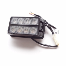 08008 Amber Super bright 8LEDX1 Waterproof Car Truck Emergency Strobe Flash warning light Automobile motorcycle chandeliers(China)