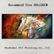 Artist Handmade High Quality Abstract Horse Oil Painting On Canvas Handmade Ghost Animal Horse Oil Paints For Wall Decoration(China)