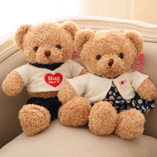 Super Cute 1pcs Big size 38cm / 50cm Teddy Bear Stuffed & Plush Toy Doll Kawaii Coupe Bears Pillow Kids Toy Girls Friend Gifts(China)