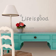 Life Is Good Inspirational Quotes Wall Decals Encouragement Words Wall Stickers Vinyl Art Mural for Home Decor