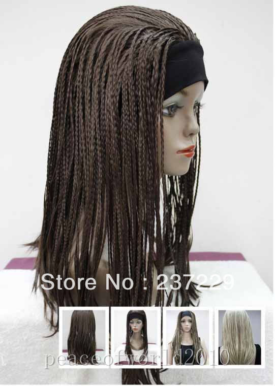 Wholesale price FREE SHIPPING ^^^^-New Sexy Chestnut Brown Braids WOMENS FULL WIG<br><br>Aliexpress