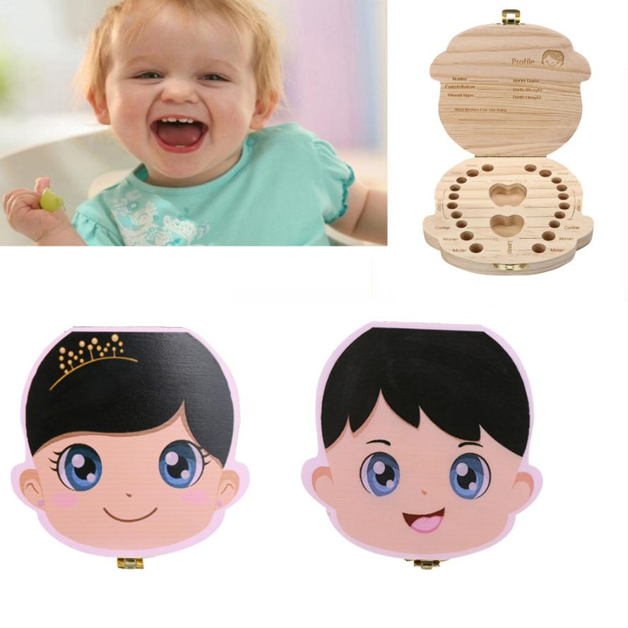 Popular spanish personalized gifts buy cheap spanish personalized tooth box organizer for baby milk teeth save wood storage box for kids boygirl collecting teeth negle Images