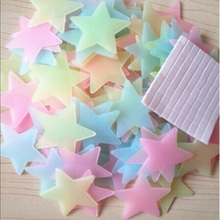 100pcs/pack Home Wall Glow In The Dark Star Stickers Decal Baby Kids Room Glowing Star Sticker