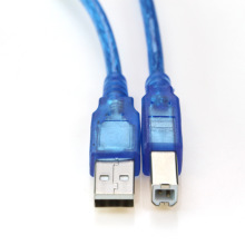 High Speed Printer Cable 3m 5m 10m USB 2.0 A Male to B Male Printer Cable Dual Shielding High Quality Crystal Blue