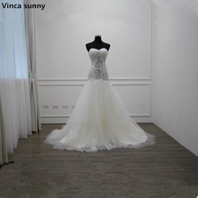 Buy Vinca sunny Vestido de Noiva Long Mermaid Pearls Lace Wedding Dresses Sexy Sweetheart Wedding Gowns Bridal Wedding Dress 2018 for $196.00 in AliExpress store
