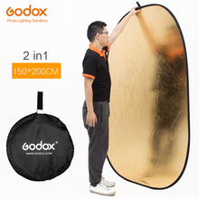 Godox 150*200cm 2 in 1 Gold and Silver Portable Photography Reflector Board Collapsible for Studio Photography Reflector(China)