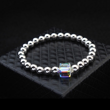 2016 Beads Charm Bracelet Bangle For Women Crystal Pulseira Women Party Wedding Indian Jewelry Made With SWAROVSKI Elements