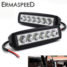 Pair Motorcycle LED Headlight Motocross ATV Dirt Bike Daytime Running Spot Light Fog Lamp Universal for KTM YAMAHA KAWASAKI BMW(China)