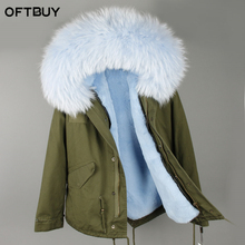 2017 Parkas For Women Winter Army Green Wadded Coat Large natural real fur Collar Thick Jacket Outerwear Female Snow Wear Brand(China)
