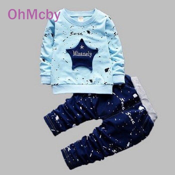 Autumn Children Baby Clothing Set Infant Boys Girls Cotton Long Sleeve Suit Paint Point Stars Shirt Pants Set for Roupas De Bebe<br><br>Aliexpress