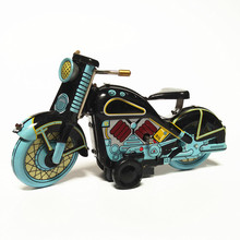 Antique Style Tin Toys Wind Up Toys Robots iron Metal Models for Children/Adult Home Decoration Metal Craft MS365 motorcycle(China)