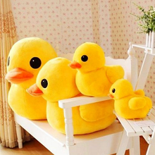 Hot Sale 1pcs 20cm New Arrival Stuffed Dolls Rubber Duck Hongkong Big Yellow Duck Plush Toys Gifts for Kids toys 060(China)