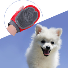 Charming Dog Long&Short Hair Remove and Bath Mitt Glove Brush Sponge Massaging Tool(China)