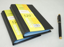 Portable 120 Cards PVC Matte Antimagnetic Leather Business Name ID Credit Card Holder Keeper Organizer Book
