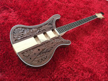 TOP QUALITY GUITAR  LK 4004 bass guitar Body  Through Maple Neck Walnut Body Best workmanship   Freeshipping
