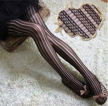 Buy Europe retro sexy slim bars jacquard fishnet stockings pantyhose stockings sexy Net Pantyhose Mesh tights Cutout Fishnet