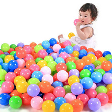 10pcs Eco-Friendly Colorful Soft Plastic Water Pool Ocean Wave Ball Baby Funny Toys stress air ball outdoor fun sports