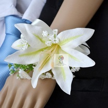 flowers Bride wrist Corsages Wedding Flower Party Decoration 1  price Artificial flower Women Hand Rose Bigger 2 colours