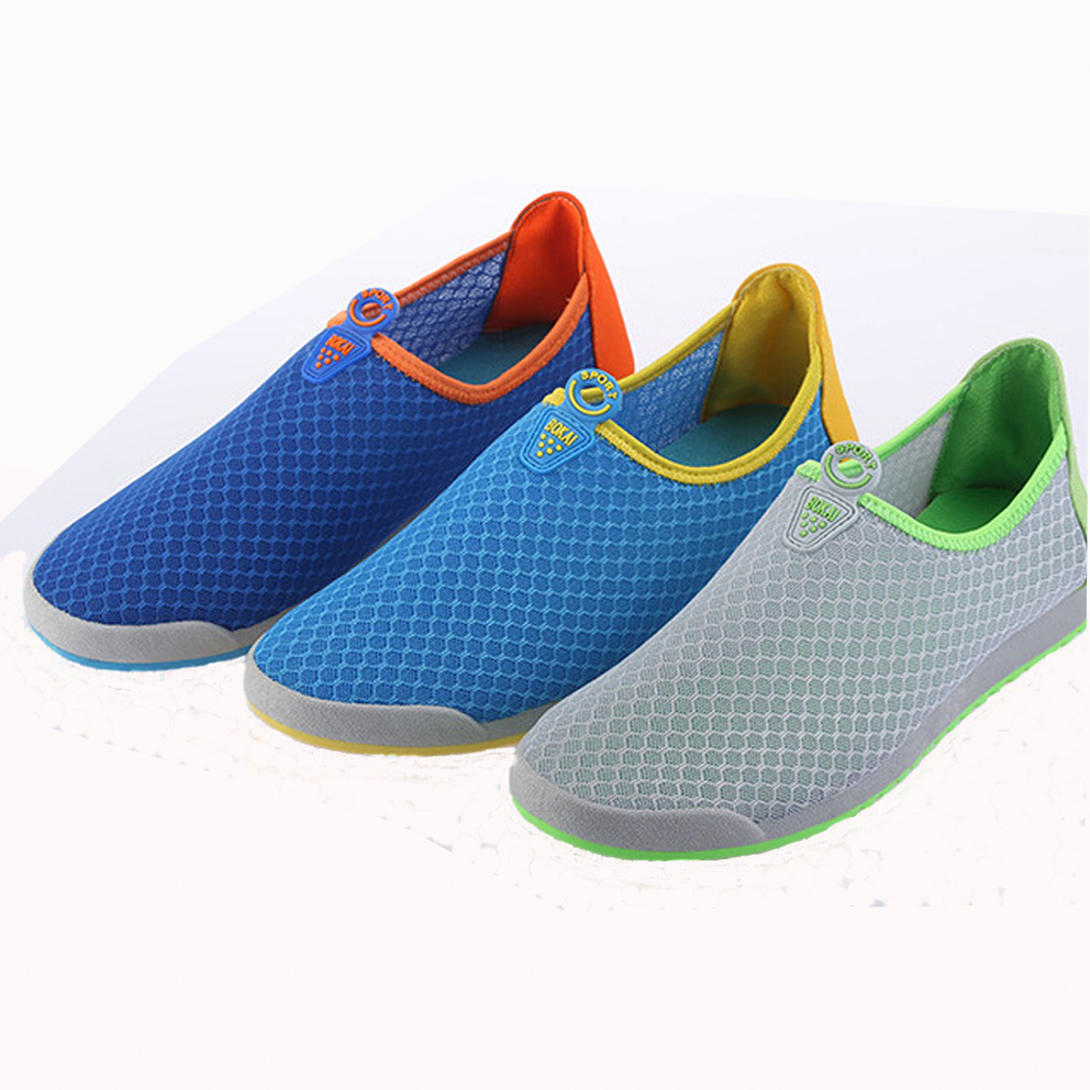 2017 Summer New Mens Mesh Flats Breathable Soft Colorful Casual Shoes Tide slip-on hit- color flats Man<br><br>Aliexpress