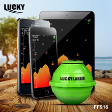 Lucky FF916 mobile phone operating fishfinder sonar for fishing deeper wireless wifi depth fish finder 130 FT fishing sounder(China)