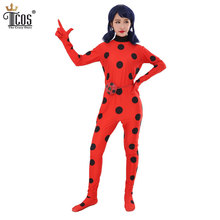 Lady Bug Halloween Costume Woman Miraculous Disfraz ladybug Infantil Cosplay Costumes Marinette Carnival Birthday Party Bodysuit(China)