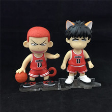 Anime Slam Dunk Sakuragi Hanamichi and Rukawa Kaede Cute Cartoon PVC Figures collection model toy