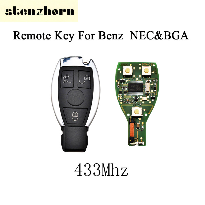 Stenzhorn 433Mhz Smart Key Mercedes Benz Year 2000+ NEC&BGA Style Benz IYZDC07 Replace Remote Key Fob 3Button Blade