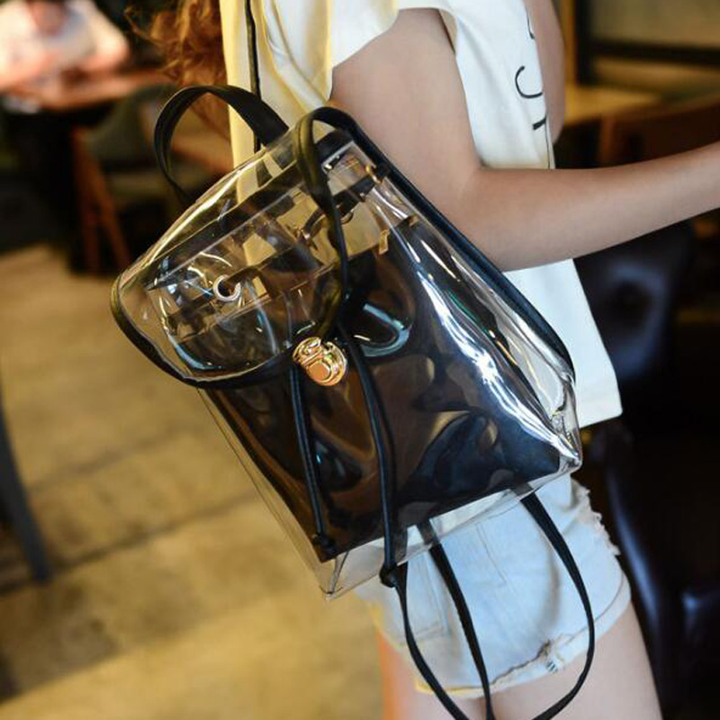 New arrival summer six colors clear backpack school bags for teenagers mochila transparente<br><br>Aliexpress