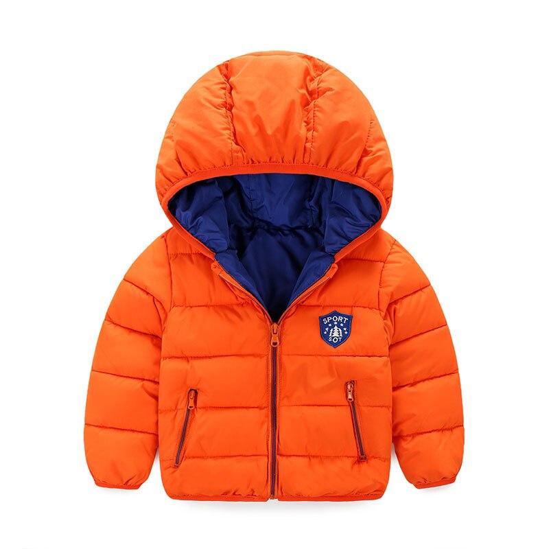 Baby Boy Coats 6-24M Newborn Infant Hooded Jacket Cotton Parka Blue Windbreaker Thick Outerwear Kids Winter Clothing Snow Wear Îäåæäà è àêñåññóàðû<br><br>