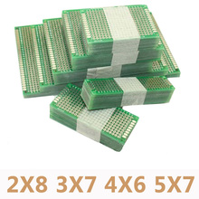 20pcs/lot 5x7 4x6 3x7 2x8cm Double Side Prototype Diy Universal Printed Circuit PCB Board Protoboard For Arduino(China)