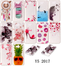 Cool Pattern Mobile Phone Covers For HUAWEI Y5 2017 MYA-L22 L23 Dual SIM Back TPU Silicon Cases Coque For HUAWEI Y5 (2017) Funda