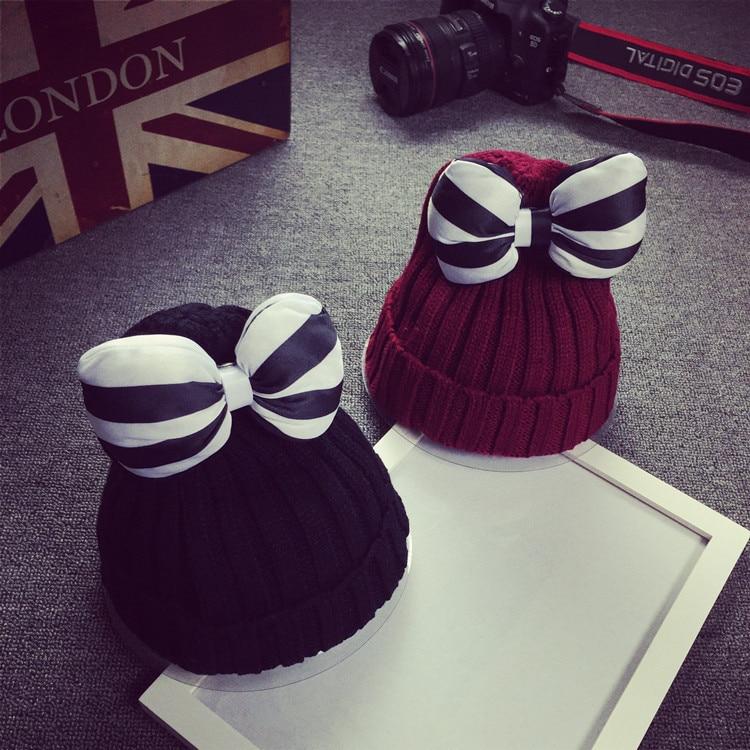 femme skullies autumn beanies winter warm chapeau women bowknot hat female wool knitted cap ladies bonnetÎäåæäà è àêñåññóàðû<br><br><br>Aliexpress