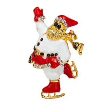 Hot Sales Enamel Brooch Santa Claus Charm Costume Brooch Pins Jewelry Accessories for Women's girl badge Free Shipping