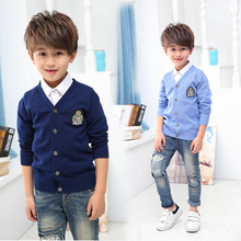 Autumn Boys Cardigan Sweater 2017 Children Clothes Baby Cardigan Boy Cotton Solid Long Sleeve Sweaters Kids Causal Knitted Tops
