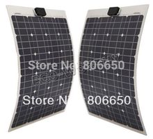 80w 2x40w 12V semi-flexible solar panel kits for boat RV camping car &Free shipping# *(China)