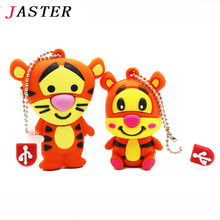 JASTER genuine tiger model pendriver 2gb 4gb 8gb 16gb usb flash drive cartoon Tigger usb pen drive memory Stick cute gift