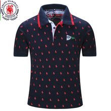 2016 New Brand Men Polo Shirt Mens Solid Polo homme Casual Short sleeve Tops for Man Full Print 100% Cotton Plus Size 014(China)