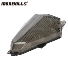 Ironwalls ABS Motorcycle Tail Light Integrated Led Running Indicator Brake Turn Signal Lamp For Yamaha R6 YZF 2006-2011(China)