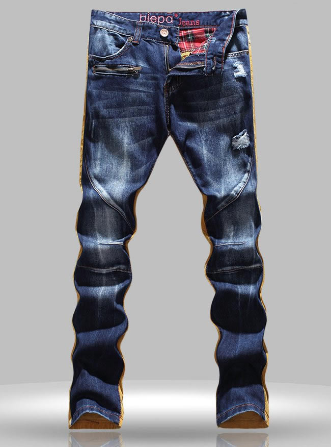 Hot sale  New patchwork gold men straight jeans Одежда и ак�е��уары<br><br><br>Aliexpress