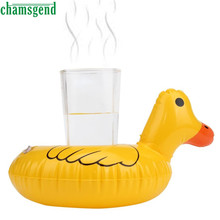 CHAMSGEND Bath Toy Cute Yellow Duck Floating Inflatable Drink Can Bath Toy Holder For Kids Children Drop Shipping Nov29