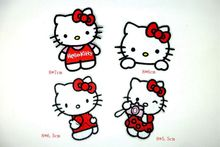 MIX4PCS cartoon kitty iron on patches for clothing ironing embroidered logo patch badge Garment Appliques diy accessory For Kids