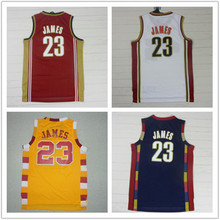 (4Color)New 2016 season #23 James Retro jerseys Throwback basketball jersey embroidery logo authentic shirts .(China)