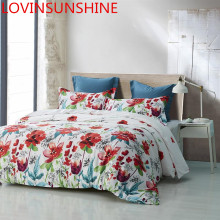LOVINSUNSHINE Duvet Cover Bed Sets Quilt Cover Set King Size Black White Flower Bedding Set Queen AG01#(China)