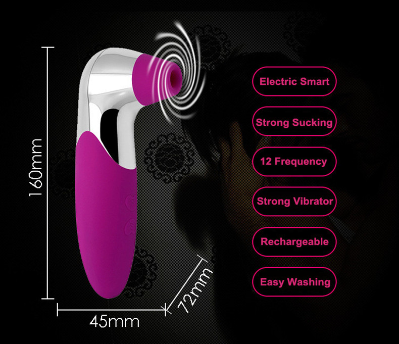 New 12 Frequency Adult Nipple Sucker Clit Vibrator for Women Tongue G-spot Massager Clitoris Sucking Breast Pump Oral Sex Toys. 7
