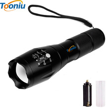 LED Tactical Flashlights E17 LED Flashlight 18650 zoom torch waterproof flashlights XM-L T6 5 mode led Torch Zoomable light